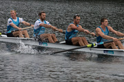 New Zealand Rowing Men's Coxless Four, (L-R) Anthony Allen, Patrick McInnes, Axel Dickinson and Drikus Conradie - during the media day at the Lake Karapiro. Photo / Brett Phibbs.