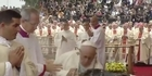 Watch: Watch: Pope Francis trips and falls during mass