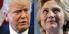 Donald Trump - bold and cunningly unpredictable - and Hillary Clinton - calm, conventional commander in chief. Photos / AP
