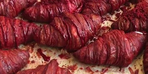 These red velvet croissants don't look food to some people. Photo / Instagram, Union Fare