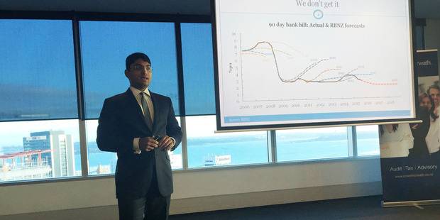 Shamubeel Eaqub spoke at an Auckland breakfast this morning.