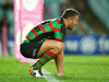 Samuel Burgess of the Rabbitohs looks dejected following his side's NRL defeat to the Sea Eagles. Photo / Getty