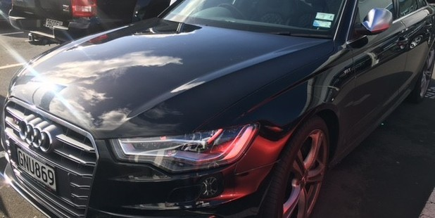 The Audi with the registration GNU869 was one of the luxury cars stolen from Tristram European in Wairau Park.