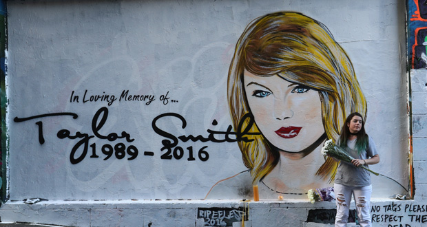 Lushsux also created a mural following Taylor Swift's spat with Kanye West. Photo / Getty