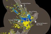A severe weather warning is in place for the north and east of the North Island. Photo of rain radar/MetService