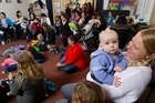 Rotorua mums latched on at the Arts Village on Friday to mark World Breastfeeding Week.