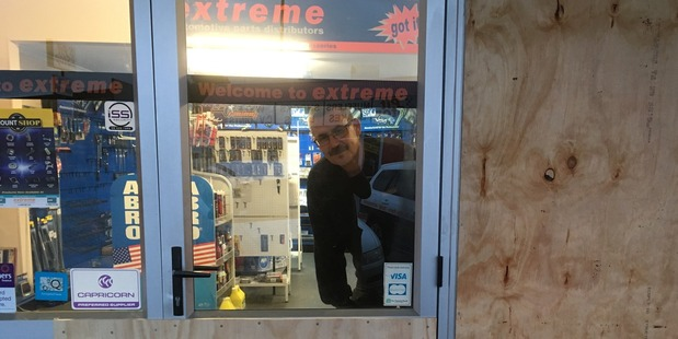 Branch manager Steve Hancox, pictured, says someone drove through the front door and stole about $10,000 worth of tools from its SP Tools range.