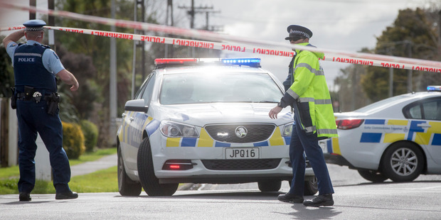 Loading Police attend the scene where two people were taken to Middlemore Hospital following a stabbing incident on Willis Road in Papakura on Friday afternoon. Photo / Mike Scott