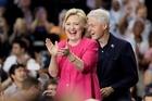 Hillary and Bill Clinton. Photo / AP