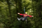 Ziplines and swingbridges feature along Canopy Tours' 1.2km route. Photo / Alan Gibson