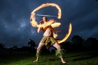 Tim Noyce is competing in one of the Pacific's top fire dancing competitions in Samoa next month. Photo / Jason Oxenham