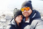 Ana-Lee Hemopo with partner Tipiwai Stainton, who died in the Waihi gold mine on Thursday.