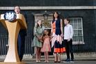 David Cameron and his family. Photo / AP