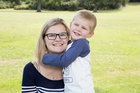 Katie Hunt and her 3 year old son Noah Hunt. Photo / Supplied