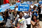 Bernie Sanders' presidential campaign raised more personal donations and drew larger crowds to its rallies than any in US history. Photo / AP