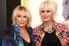 Jennifer Saunders with Joanna Lumley on the red carpet for the premiere of the Absolutely Fabulous movie. Photo / AP