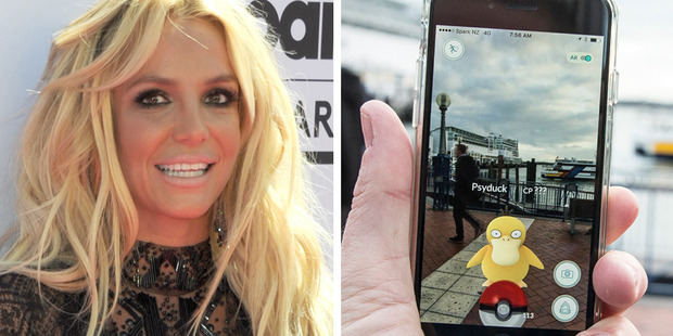 Loading Britney Spears has gotten into playing Pokemon Go with her sons. Photo / AP, NZH