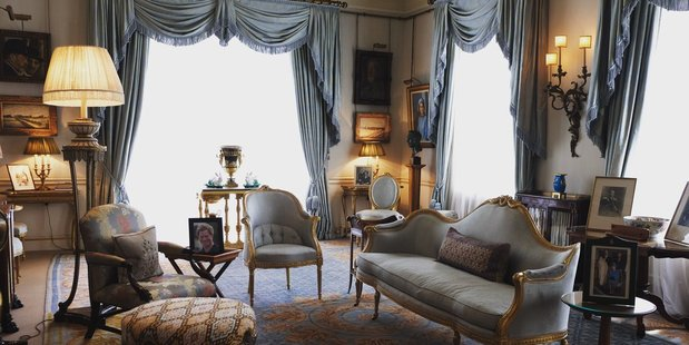 Find out which items feature in the Morning Room at Clarence House with our guide below. Photo / Twitter / Clarence House