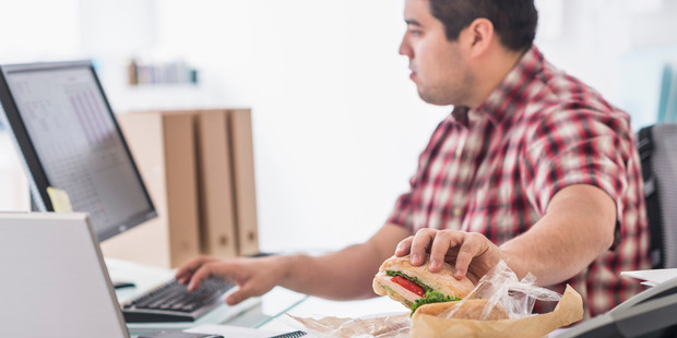 Researchers from the University of Florida found that employees who work through their lunch break are suffering from burnout. Photo / Getty