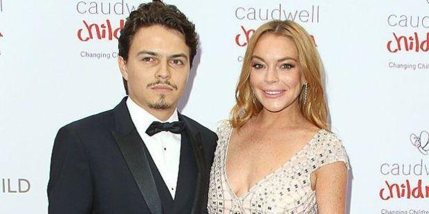 Lindsay Lohan and her partner Egor Tarabasov. Photo / Getty Images