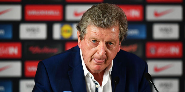 Roy Hodgson speaks during a press conference on June 28, 2016 in Chantilly, France. Photo / Getty Images