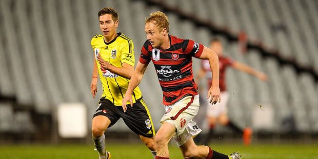 Western Sydney's Mitch Nichols capped his team's comeback efforts with a game winning goal. Photo / Getty Images