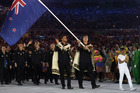Peter Burling and Blair Tuke lead New Zealand out during the 2016 Rio Olympics opening ceremony. Photo / Getty