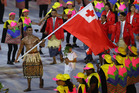 Pita Taukatofua of Tonga carries the flag during the Opening Ceremony of the Rio 2016 Olympic Games at Maracana Stadium. Photo / Getty Images