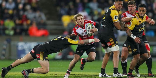 Faf De Klerk of the Lions looks to make a break during the 2016 Super Rugby Final match between the Hurricanes and the Lions at Westpac Stadium. Photo / Getty Images