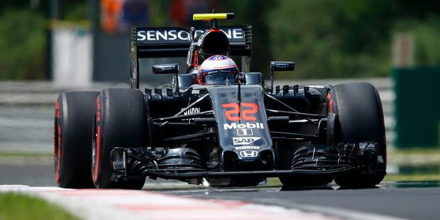 McLaren driver Jenson Button during the  Hungary Grand Prix. Photo / AP