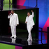 Singers Zeca Pagodinho, left, and Marcelo D2, right, perform during the opening ceremony for the 2016 Summer Olympics in Rio. Photo / AP