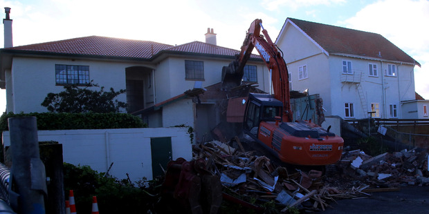 A digger working on the property on Tuesday morning.PHOTO/STUART MUNRO
