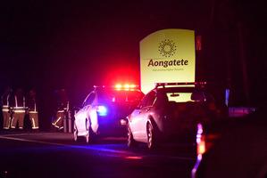 SCENE: Emergency vehicles on Tuesday night. PHOTO/GEORGE NOVAK