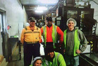 Aongatete coolstore workers in 2015; back middle Steven Vaipulu (Sitiveni Vaipulu); and front right Koli Vaipulu. The father and son were killed in the crash. Photo / Supplied