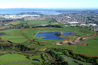 The privately-owned Crater Hill, on the edge of Manukau Harbour in Papatoetoe, has been partly rezoned for up to 575 houses. Photo / Bruce Hayward