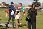 The altercation between a touch judge and a Papatoetoe player during an under-85kg match on July 30. Photo: Cheeky Photography