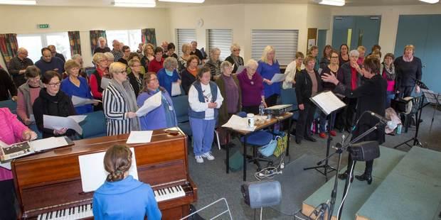 Whanganui Community choir in rehearsal.