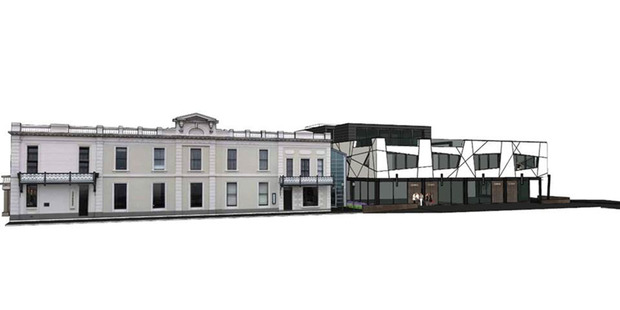 An artist's impression of Eichard's Hotel in Queenstown with the $6 million additional exclusive hotel.