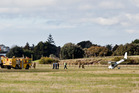 A privately-owned plane crash-landed at Tauranga Airport. PHOTO/ANDREW WARNER