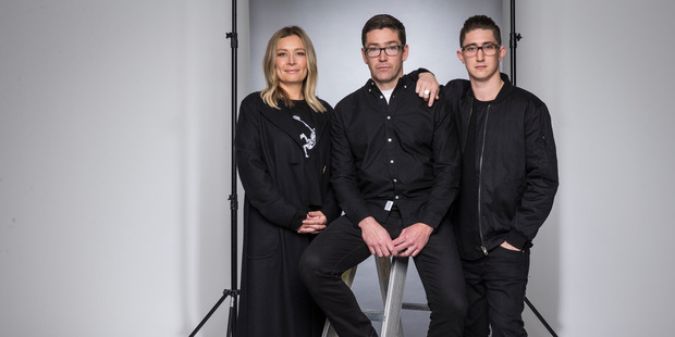 Anna Hood and Vinny Sherry have joined forces with Lance O' Grady (right) to steer New Zealand Fashion Week. Photo / Greg Bowker