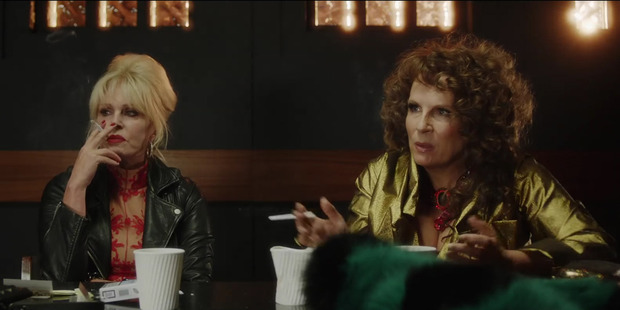 Loading Joanna Lumley and Jennifer Saunders as Patsy and Edina in the film version of the hit television series.