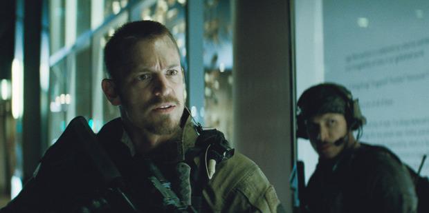 Joel Kinnaman as Rick Flag in Suicide Squad.