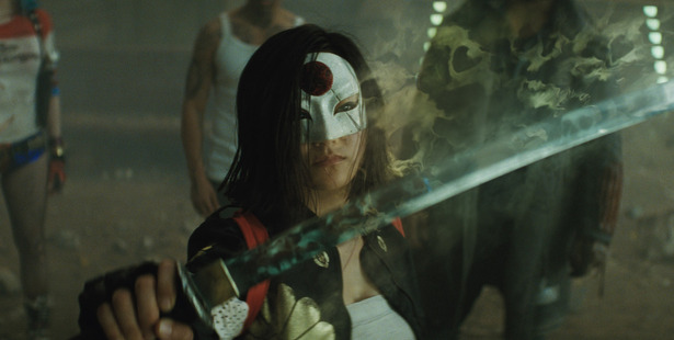 Karen Fukuhara as Katana in Suicide Squad.