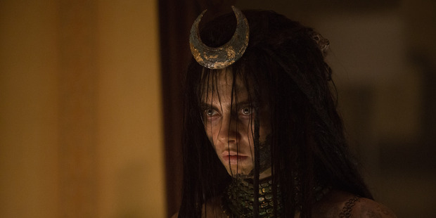 Cara Delevingne as Enchantress in the movie Suicide Squad.