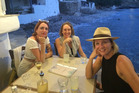Hayley Holt (right) on holiday with friends in Greece. Photo / Supplied
