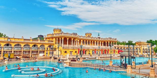 The famous Szechenyi Baths in Hungary's capital Budapest. Photo / 123RF