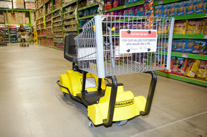 """A """"mart cart"""" designed to make shopping easier for people with limited mobility. PHOTO/ANDREW WARNER"""
