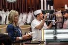 Checking out the trends at New York's landmark Katz's Delicatessen. Photo / Annabel Langbein Media