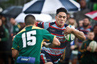 TOUGH OPPOSITION: Rotoiti player Chanse Perham playing in the semifinal against Mount Maunganui on Saturday. PHOTO/ANDREW WARNER.