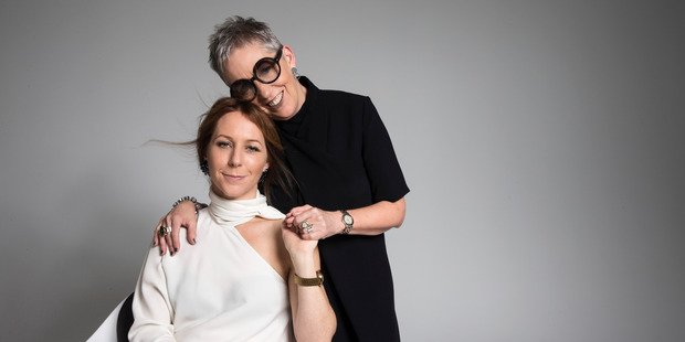 Lynne is wearing a Cos dress and Tom Ford glasses. Megan is wearing a Country Road blouse and Witchery trousers. Photo / Guy Coombes